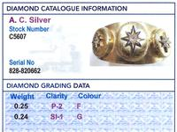 0.49ct Diamond & 18ct Yellow Gold Triple-locket Bangle - Antique c.1880 (9 of 12)