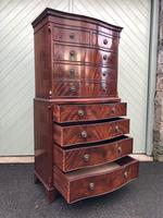 Quality Mahogany Serpentine Chest on Chest (6 of 11)