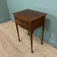 Elegant Victorian Mahogany Bow Front Antique Side Table (4 of 5)