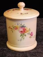 Antique Royal Worcester Blush Ivory Lidded Jar (2 of 8)