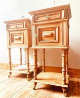French Antique Oak Bedside Tables / Marble Bedside Cabinets / Nightstands (2 of 6)