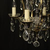 French Gilded 4 Light Cage Antique Chandelier (2 of 10)