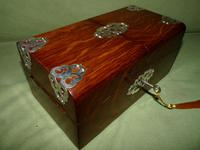 Solid Figured Oak Games Box + Accessories c.1890 (2 of 18)