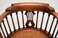Antique Victorian Mahogany Captains  Desk Chair (8 of 11)