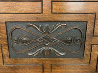 Late 19th Century Carved Oak Bench (6 of 12)