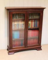 Edwardian Mahogany Glazed Bookcase c.1910 (3 of 11)