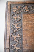 Arts & Crafts Carved Oak Drop Leaf Table (10 of 12)