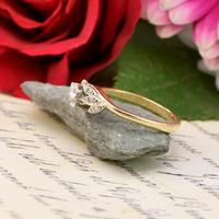 The Vintage Brilliant Cut Foliate Diamond Ring (2 of 5)