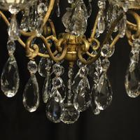 French Gilded Birdcage Antique Chandelier (8 of 10)