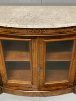 English burr walnut Credenza with Carrara marble top (9 of 10)