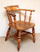 Elm And Beech Smokers Bow Armchair (7 of 10)