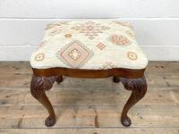 Late Victorian Carved Mahogany Stool (3 of 8)