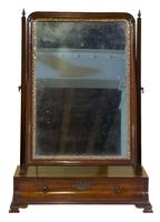 George III Mahogany Toilet Mirror with Single Drawer (6 of 6)