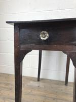 Antique Georgian Oak Side Table with Drawer (6 of 13)