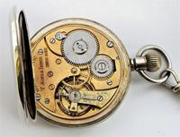 1930s Swiss Lever Pocket Watch & Chain (5 of 6)