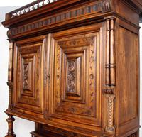 Large German Carved Walnut Bookcase Cabinet 19th Century (10 of 14)