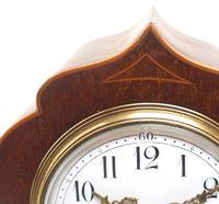 Super Art Nouveau Mantle Clock Tulip Floral Inlay 8 Day Mantle Clock (2 of 15)