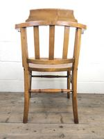 Early 20th Century Beech Smoker's Chair with Pokerwork Seat (M-1591) (5 of 8)
