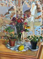 Stunning Original Art Deco Style Contemporary Figural Still Life Oil Painting (4 of 10)