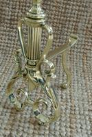 Quality Pair of Victorian Brass Fire Dogs Fire Irons Rest Andirons c.1890 (7 of 7)