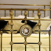 Highly Decorative Cast Iron Antique Bed in Black (4 of 9)