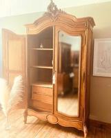 French Armoire / French Walnut Wardrobe (7 of 8)