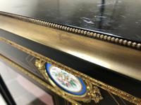 Victorian Ebonised Inlaid Side Cabinet with Brass Mounts (12 of 15)