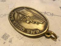 Vintage Pocket Watch Chain Fob 1950s Rms Queen Mary Ships Brass Propeller Fob (5 of 8)