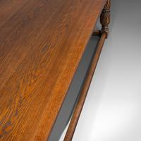 Antique Refectory Table, English, Oak, Dining, Jacobean Revival, Edwardian c.1910 (8 of 12)