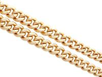 9ct Yellow Gold Double Albert Watch Chain - Antique c.1910 (4 of 12)