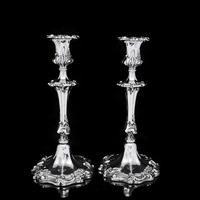 Antique Pair of Solid Silver Victorian Candlesticks - Henry Wilkinson & Co 1848 (7 of 31)