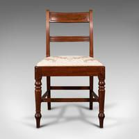 Set of 4, Antique Dining Chairs, English, Mahogany, Pair Of Carvers, Regency (6 of 12)