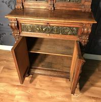 Victorian Carved Oak Secretaire Bookcase (20 of 25)