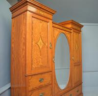 Stunning Victorian Satinwood & Marquetry Compactum Wardrobe (4 of 24)