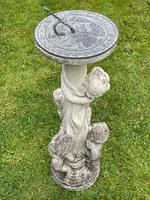 Large' Victorian Style' 3 Cherubs Stone Sundial Fairy Brass Top Timepiece (26 of 29)