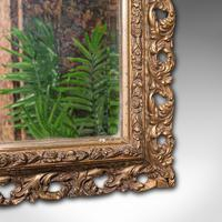 Antique Bevelled Mirror, English, Gilt Gesso, Overmantel, Hall, Victorian, 1900 (8 of 10)