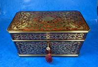 Victorian French Tortoiseshell Twin Canister Tea Caddy (6 of 17)
