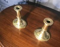 Pair of Georgian Brass Candlesticks (2 of 5)