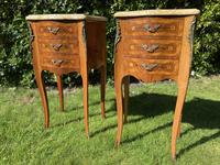 Pair of French Marquetry Bedside Tables (6 of 8)