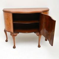 Antique Queen Anne Style Burr  Walnut Cabinet c.1920 (6 of 8)