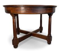 Circular Mahogany Centre Table (3 of 7)