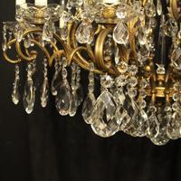 Italian Gilt & Crystal 22 Light Antique Chandelier (5 of 8)