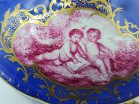 Dresden 19th Century Porcelain Ecuelle, Antique German Porcelain Covered Bowl Plate (7 of 7)