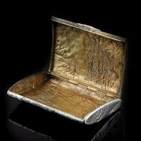 Antique Imperial Russian Solid Silver Samorodok Snuff Box Case - Rudolf Veyde c.1900 рудольф Вейде (8 of 15)