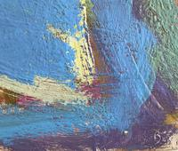 Original Abstract Oil on Board 'Santorini' by Frank Beanland - Initialled. c.1985 (3 of 3)