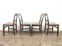 Set of Four Antique Farmhouse Kitchen Chairs (7 of 9)