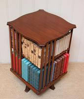 Edwardian Small Proportioned Low Mahogany Revolving Bookcase (7 of 10)