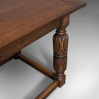 Antique Refectory Table, English, Oak, Dining, Jacobean Revival, Edwardian c.1910 (9 of 12)