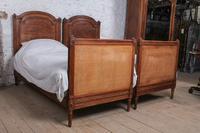 Fabulous Pair of Single Henri II Style Cane & Wood Single Beds (11 of 11)