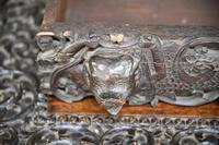 Antique Anglo Indian Carved Padouk Library Table (4 of 34)